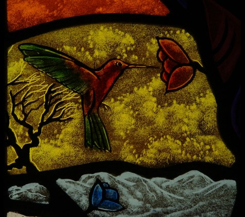 1b HUMMINGBIRD - STAINED GLASS(1)
