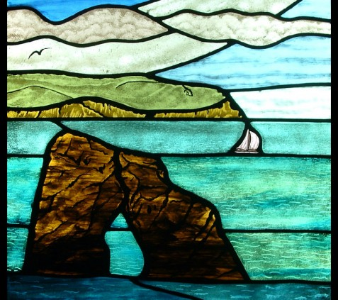 3a THURLESTONE ROCK STAINED GLASS WINDOW(1)