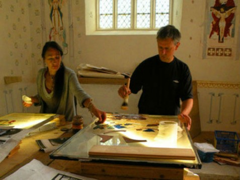 GLASS PAINTING WORKSHOP - GLASTONBURY ABBEY(1)