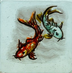 HAND PAINTED FUSED GLASS COASTER 4